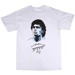 Canada Diego Maradona T-Shirt 100% Coton Footballeur Argentine Légende Boca Juniors T Shirt Drôle T-Shirts Hommes Chaud Pas Cher Hommes Offre