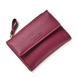 Симпатичные женские кошельки онлайн-Wallet Women 2019 Lady Short Women Wallets Korean Students Lovely Purse Mini Money Purses Card Holder For Woman