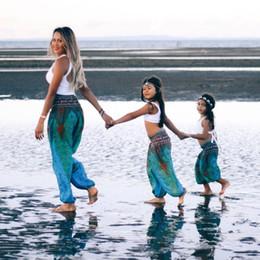2019 pantalon mère fille 2019 PPXX Famille Pantalon Assortiment Pantalon De Yoga Maman Fille Fils Vêtements Bébé Mère Fille Famille Assortir Des tenues Look pantalon mère fille pas cher