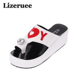 1ddcfc5aa739 2018 Summer women slippers shoes genuine Rhinestone Open Toe high heels  flip flops women white Slippers mules shoes HS119
