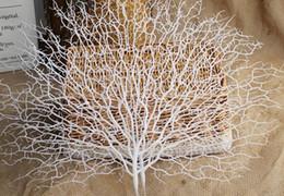 Ramas de coral online-Acuarios decoraciones adornos pecera acuario accesorios decoración coral rama pavo real cola ramas secas decoración colgando plantas