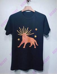 2019 camisetas para perros Diseñador de moda de alta calidad marca ropa para hombre camiseta europea perro estrella letra impresión color crema camiseta top casual mujer camiseta rebajas camisetas para perros