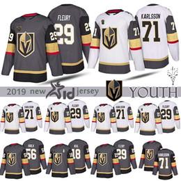 james neal hockey trikot Rabatt JUGEND Vegas Golden Knights 29 Marc-Andre Fleury 18 James Neal 71 William Karlsson 56 Erik Haula Hockey Kinder Trikots