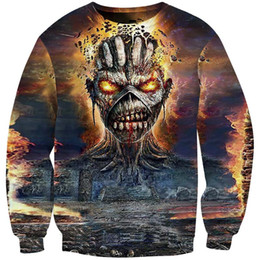 sudaderas con capucha 4xl Rebajas Iron Maiden Pullover 3D Print Jumper Killers Eddies Hoodies Rock Music Band Sweater Hip Hop Jerseys Cool Jumpers Fans Skull Hoodie Nuevo