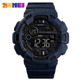 horloge grosse main Promotion Big Dial LED numérique Montres Hommes bracelet en caoutchouc Homme Armée main Horloge étanche Coût bleu montre-bracelet