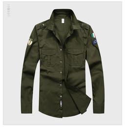 Marcas de roupas militares on-line-New Designer Top Homens Bordados de qualidade da Marca Vestuário Homens Camisas Marca Polo Homme Diamante Moda roupas militares