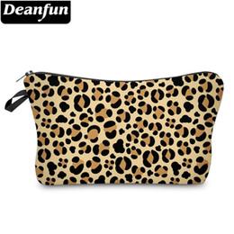 Bolsas de impresión de moda online-Deanfun Leopard Cosmetic Bag Impermeable Impresión Vogue Neceser Logotipo personalizado para joyería Dropshipping 51465