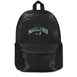 Paquete, mochila Fútbol de los Miami Hurricanes Logotipo de Core Smoke diseñador negro Paquete de yoga ajustable atlético Paquete deportivo desde fabricantes
