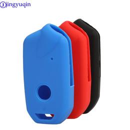 2019 llavero caso kia Jingyuqin Remote Key Fob Funda para Kia Stinger K900 Sile Remote Key Funda Fob Shell Cover Protector de soporte de piel llavero caso kia baratos