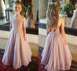 9b745ca9bcc flower girl dresses size 4t Coupons - Lovely Spaghetti flower Girls Dresses  for Beach Wedding With