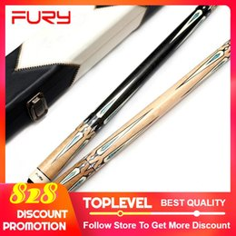 2019 Original FURY Cue with Case 11.75mm / 13mm Tip 2-Piece Pool Cue / Pool Stick Kit Decalque Design ergonômico Madeira canadense Maple de