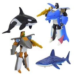 UK/_ Transformation Robot Action Figure Ocean Park Shark Dolphin Educational Toy