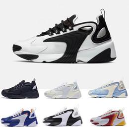 nike Zoom 2K Hombres Zoom 2K Lifestyle Zapatillas de deporte Blanco Negro Azul ZM 2000 años 90 Trainer Designer Zapatillas de deporte de exterior M2K Zapatos cómodos causales 36-45 desde fabricantes