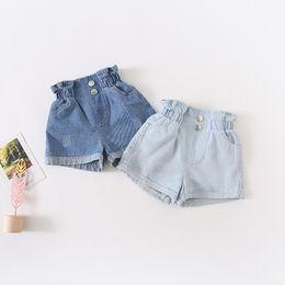 Kleinkind Mädchen High Waist Jeans Frühling und Herbst Kindermode Hose en gros Lot Groß Kleidung Kind Tassel Bottom Hosen 5pcs LOT