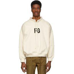 Pullover alto colletto online-19SS PAURA DI NEBBIA DI DIO FG ricamo moda stand colletto felpa high street casual manica lunga pullover maglione street HFHLWY034
