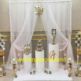 Pastel de boda del pilar online-Nuevo estilo Cake Pillar columnas de pedestal de boda para la fiesta de boda vestidos de boda del evento tienda decoración decor1063