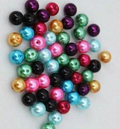 2019 llavero redondo de acrílico al por mayor 3000 unids / lote colores mezclados 4mm perlas de vidrio para joyas collar pulsera pendientes