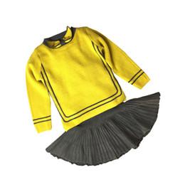 Ragazza dei modelli coreani online-Hot girl autunno 2019 modelli primavera e autunno nuova marea femminile bambini stranieri nella versione coreana del vestito maglione gonna due pezzi