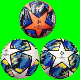 чемпионский мяч Скидка новые 19 20 чемпиона Европы высокого качества Футбольного мяча 2019 2020 Final KYIV PU размер 5 шариков гранула скольжению футбол Бесплатная доставка