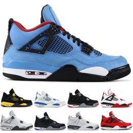 Deporte 89 online-Diseñador 4 4s Hombres Zapatos de baloncesto Cactus Jack Alternativo 89 Dinero puro Pony Negro IV Deporte Atletismo Hombres Zapatillas 36-47