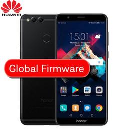 caméra de recul bluetooth android Promotion Huawei Honor 7X 4GB 64 / 128GB 8MP + 16MP Double caméras arrière 3340mAh 5.93 pouces 2160 * 1080P Écran Full Fingerprint