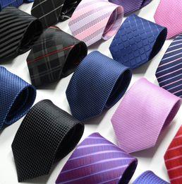 Argentina Nuevos Lazos Formales Para Hombres Clásico de Poliéster Tejido A Cuadros Puntos Fiesta Corbata Moda Boda de Negocios Masculino Casual Suministro