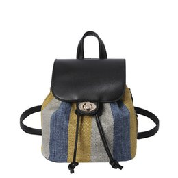 mochilas circulares Rebajas Personalidad Costura Hit Color Mochila Otoño Nueva Moda Casual Mochila de Viaje Salvaje de Alta Calidad