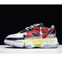 2019 couro de fusão Nova Versão Maison Margiela Fusão Sneakers Amantes Dad Shoes Sapatilhas De Malha De Couro Afligido Europeu Tamanho 35-44 desconto couro de fusão