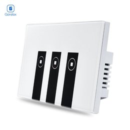 2019 interruttore a parete di automazione domestica Smart Home Automation Module Wif Telecomando Lampada da parete Touch Timer Switch 3 gang con pannello in cristallo sconti interruttore a parete di automazione domestica
