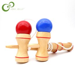 2019 deportes japoneses tradicionales utdoor Fun Sports Toy Balls Kids Madera Kendama Coordinate Ball Japanese Traditional Skillful Juggling Wood Game Ball Bilboquet Skill Edu ... deportes japoneses tradicionales baratos