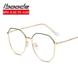 i telai di vetro all'ingrosso di moda Sconti iboode unisex dell'oro dell'annata della struttura del metallo miopia Occhiali Donna Uomo 1 1,25 0,75 -0.5 1.5 1.75 2.0 2.25 2.5 2.75 3.0 3.25 3.5 3.75 4