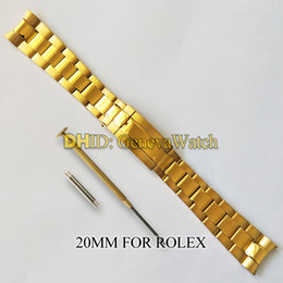 samsung gear smartwatch Desconto Bandas 20MM banda para relógio Rolex inoxidável 316L Strap pulseira de aço pulseira de prata Curved End Assista Acessórios watchstrap para relógios SUB