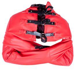 Calzamaglia online-Cinturino in pelle rossa, collant di sicurezza da donna con cinturino e giubbotto da donna Kiki fashion BDSM