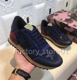 Argentina Nuevos zapatos Moda marca manual tachuelas negro Camuflaje Zapatillas Zapatos Calzado Hombres Pisos Diseñador de lujo haciendo entrenadores Casual supplier manual shoes Suministro