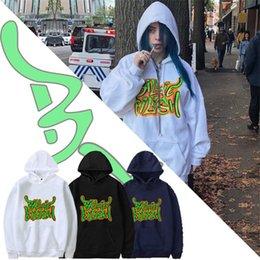 2019 hoodies azuis do golfinho Billie Roupa Eilish 5 Designs Billie Eilish Impresso Bigs Crianças Adolescentes Mens Womens Hoodies solto Hip Hop Moletons SS323