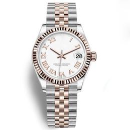 oulm gold Rebajas 19 relojes de lujo de color para mujer, reloj automático de 31 mm, bisel de cerámica, relojes de cristal de zafiro 2813, relojes de señora, reloj de pulsera de mujer
