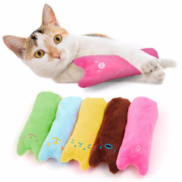 cuscino giocattolo gatto Sconti Giocattolo del gatto Divertente peluche interattivo creativo Cuscino Popolare Alta Quanlity Catnip Toy Denti Grinding Cute Cat Scratcher Toys
