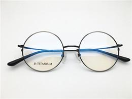 d26bd1a913 Brand Design women men vintage retro round titanium top quality optical  frame spectacle frame optical Clear prescription Lenses DL5208-F