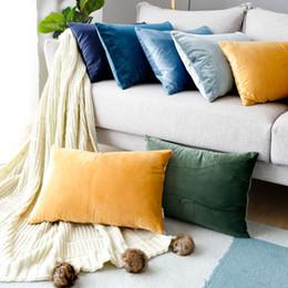 22 Renkler Minder Kapak 30x50 Dikdörtgen Yastık Kılıfı Oturma Odası Kanepe Kadife Atmak Yastık Ev Dekorasyon için Kussenhoes dekor VT0087 supplier throws pillows nereden yastık atıyor tedarikçiler