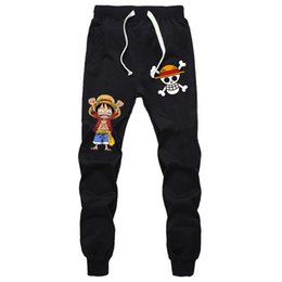 Argentina ONE PIECE Sports Straight Pants Mono D. Luffy Summer Sweat Pockets Jogger Fitness Sports Pantalones transpirables para hombres Niños adolescentes cheap straight breathable pants Suministro