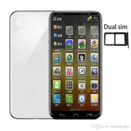 Wcdma 3g sim karte online-6,5-Zoll-Android-Telefon xs max 1 GB RAM 4 GB RAM MTK6580 QuadCore 5MP 3G WCDMA Sealed Box Fake 4G angezeigt Dual-SIM-Karte goophone