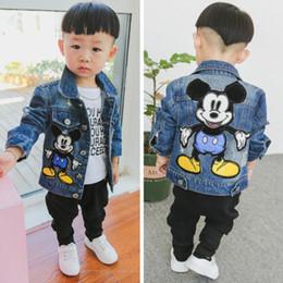 2019 estilo do exército da forma dos miúdos Dulce Amor Children Denim Jacket Coat 2018 New Autumn Kids Fashion Patch Outerwear Baby Boy Girl Hole Jeans Coat Drop Shipping SH190910