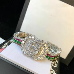 Braccialetti diamanti degli uomini online-Designer di lusso CC gioielli di marca retrò gioielli pieno di diamanti braccialetto decorativo uomini e donne accessori per feste banchetto