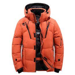 Argentina Alta calidad chaqueta de abrigo de los hombres con capucha gruesa pato caliente abajo Parka capa ocasional Slim Down hombre abrigo muchos bolsillos Suministro