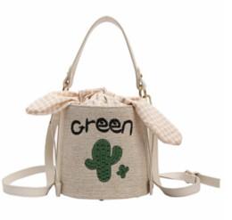 sacchetto di tracolla piccolo tessuto Sconti delle donne Sacchetto 2019 nuovo del piccolo mini borsa del messaggero di Crossbody Bag benna del tessuto di cotone del fumetto di stampa