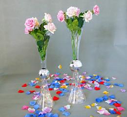 kristallvasen für hochzeitsblumen Rabatt Wohnkultur Ornamente Accessoires Handmade Transparent Kristall Blumenvase Hochzeit Mittelstücke Tisch Vase für Event Party Dekor