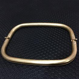 2019 malas emolduradas 2 Pcs Cooper Retângulo de Armação De Metal Embreagem Moda Bolsa Bolsa Saco Handle Parte Accessorie desconto malas emolduradas