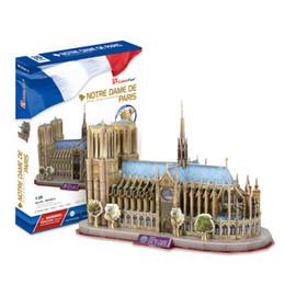 pistola morbida di freccette Sconti Notre Dame De Paris CubicFun 3D puzzle Diy Paper Modello architettonico modello Papercraft Home Adornment for christmas
