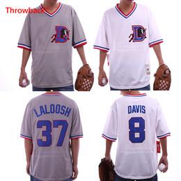 camisetas de béisbol cosidas Rebajas Bull Durham Kevin Costner Crash Davis 8 Ebby 'Nuke' LaLoosh 37 Béisbol Jersey Stitch Sewn Nuevo