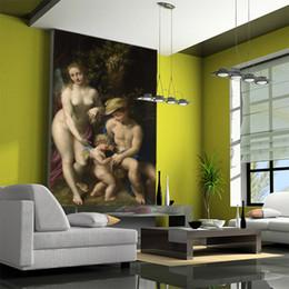 Arbeiten Sie nahtlose große europäische Körperkunstcharakterölgemäldetapetenstabhotel-Hintergrundtapete des Wandbildes 3d um von Fabrikanten